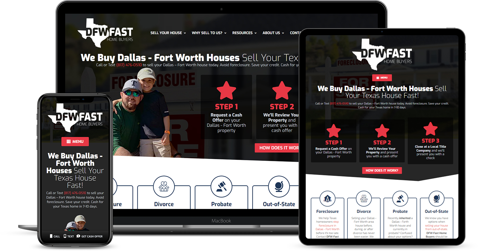 Customer Showcase on All Devices - DFW Fast Home Buyers